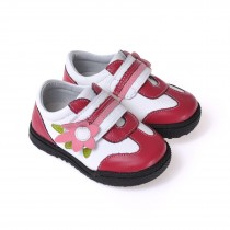 Caroch Mädchen Sneaker  Kinderschuhe aus Leder in rot/weiß