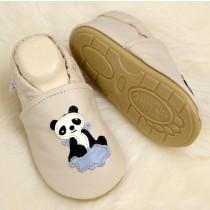 Lauflernschuhe mit vollgummi - #102 Panda in beige