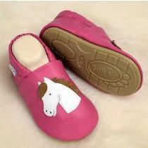 Lauflernschuhe mit vollgummi - #139 Pferd in pink
