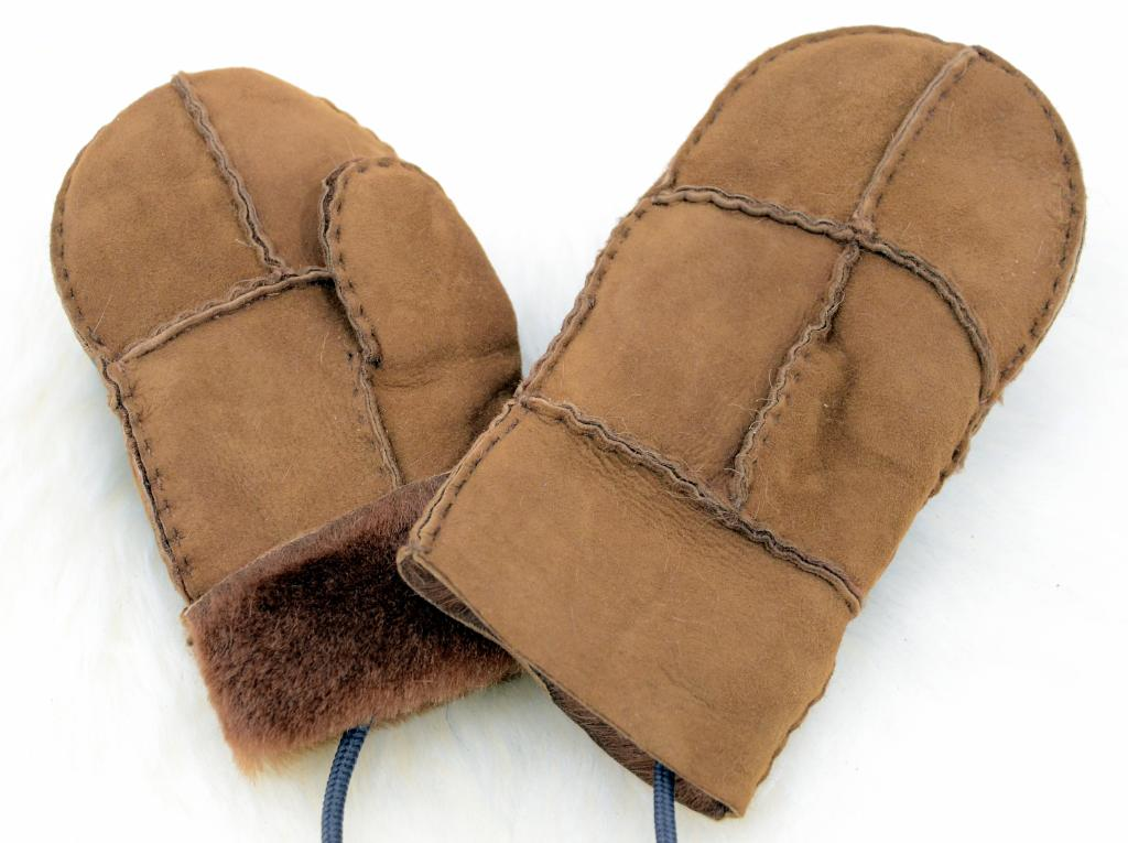 Lammfell Handschuhe Fausthandschuhe Fäustel Fäustlinge für Baby und Kleinkinder