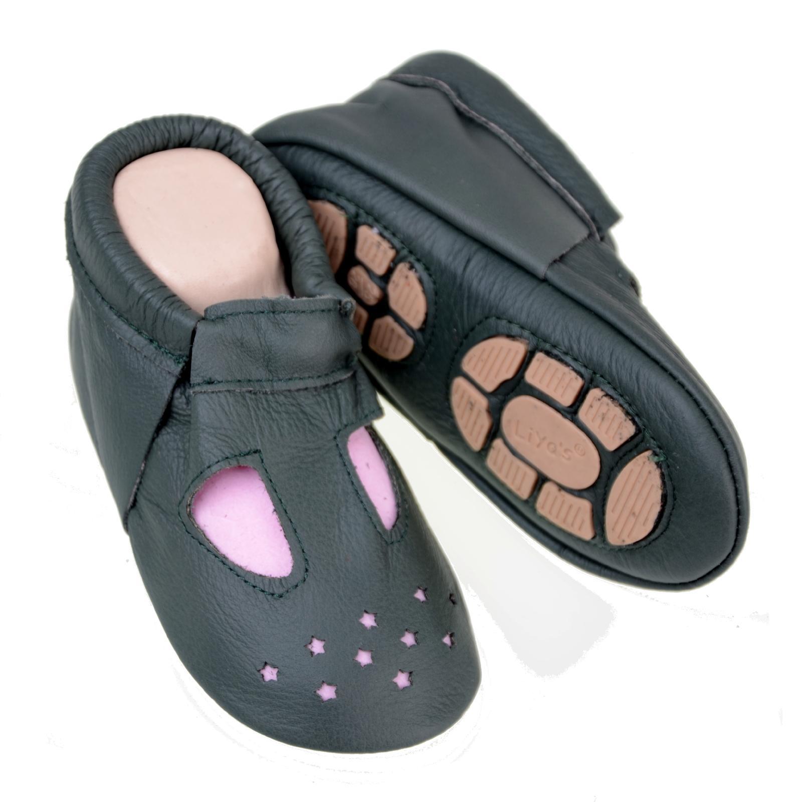 #634 été amener du étoiles Liya/'s des chaussons de bébé Chaussons Cuir amener du