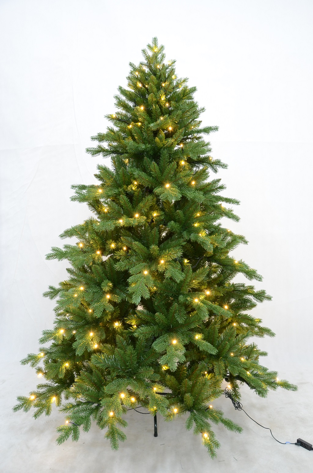 k nstlicher christbaum weihnachtsbaum tannenbaum mit beleuchtung led ebay. Black Bedroom Furniture Sets. Home Design Ideas