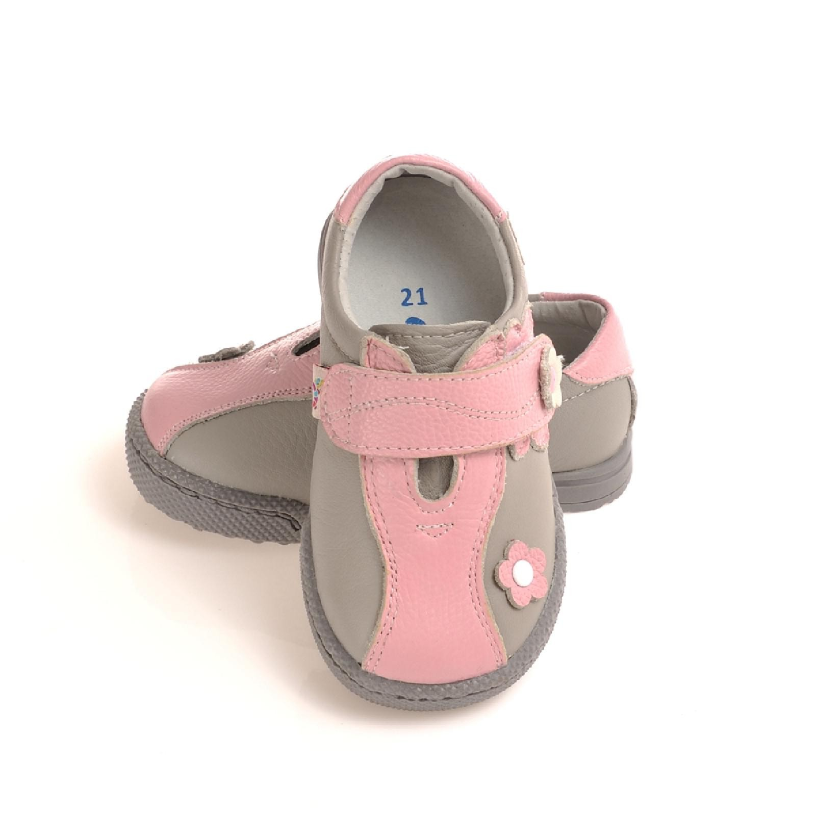 3cea3d15ac0c89 Mehr Ansichten. Caroch Mädchen Sneaker Kinderschuhe aus Leder in rosa  hellgrau