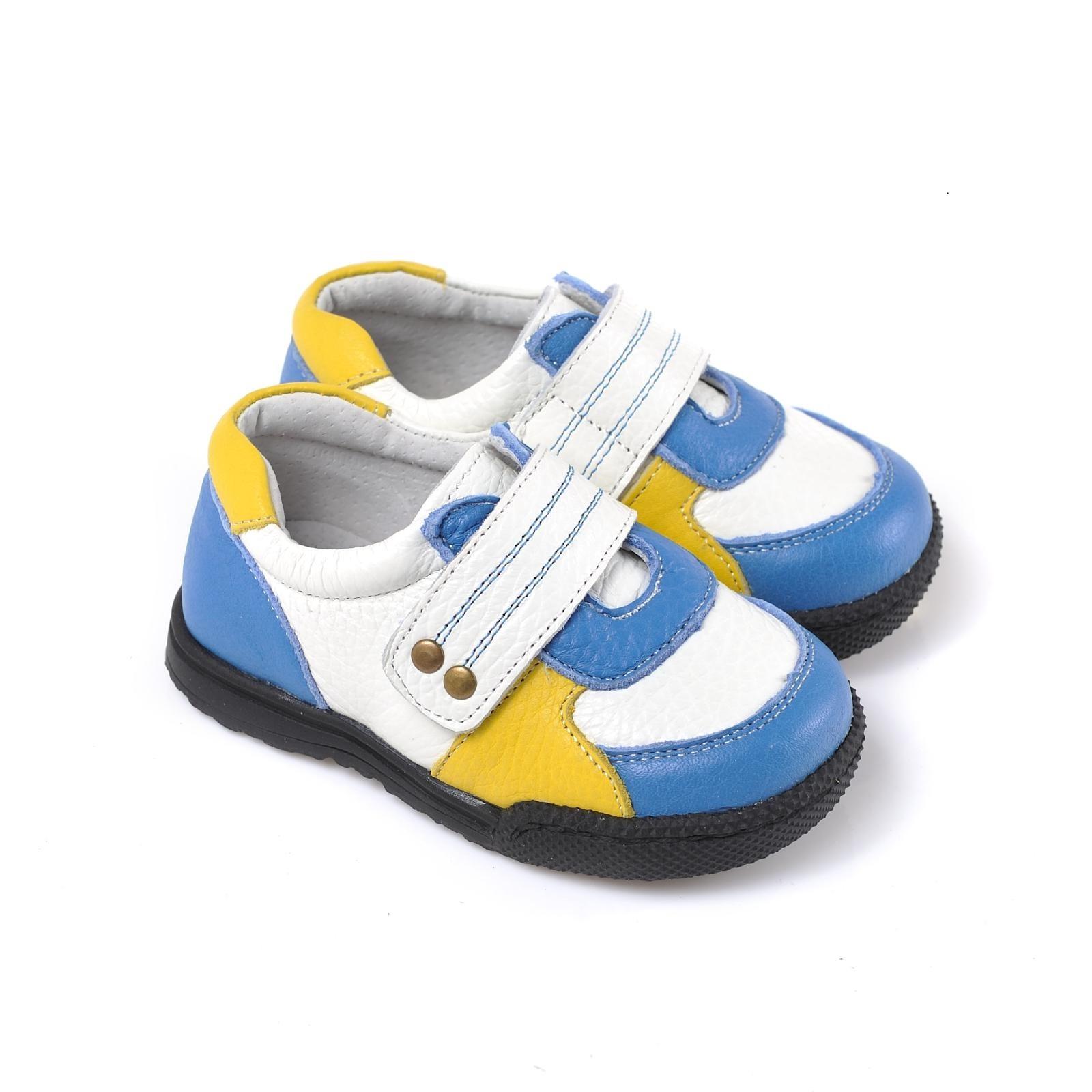 Caroch Jungen Sneaker  Kinderschuhe aus Leder