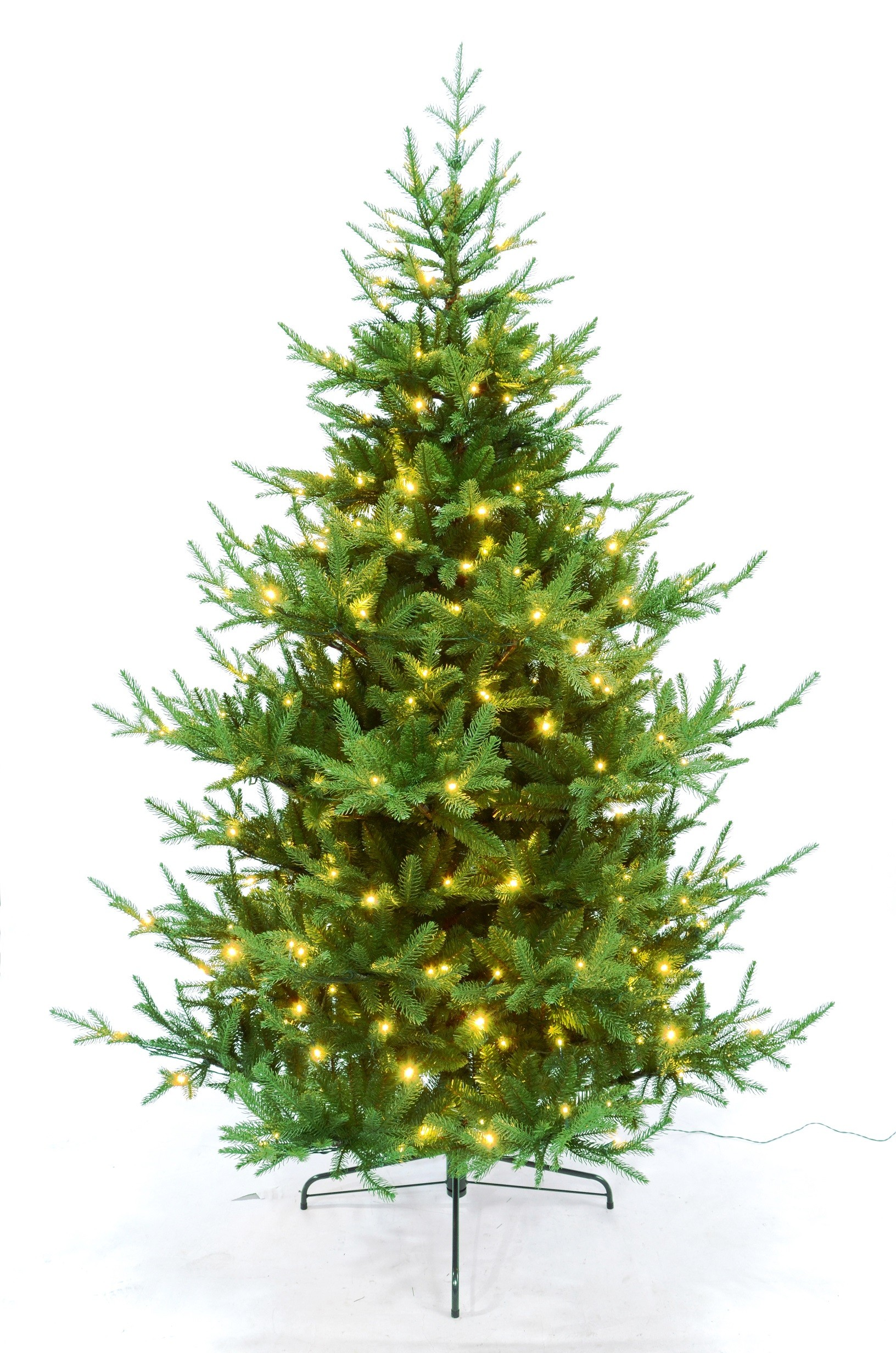 Künstlicher Weihnachtsbaum Tannenbaum PE / PVC mit Beleuchtung LED