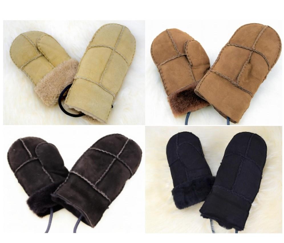 Lammfell Handschuhe/Fäustlinge für Baby und Kleinkinder