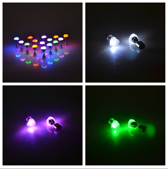 "leuchtende LED Ohrstecker ""Herz"""