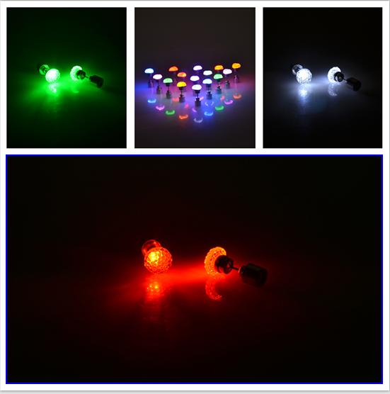 """leuchtende LED Ohrstecker """"Kugel"""""""