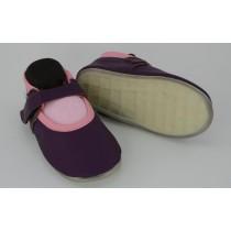 Liya's Lederpuschen mit Vollgummi -  #792 Ballerina in lila