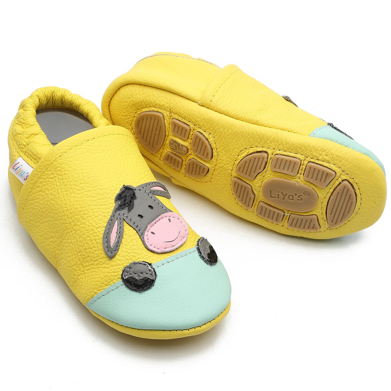 Liya's Babyschuhe Hausschuhe Lederpuschen Turnschläppchen
